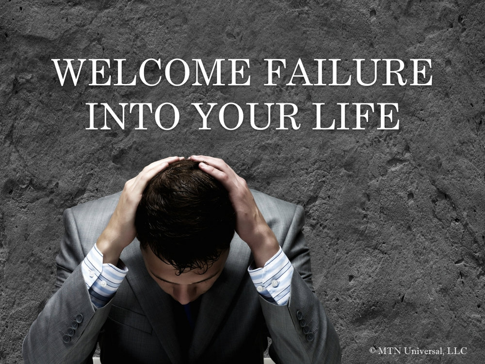 Failure is just a sign!